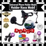 Jual Phone Holder Mobil Universal Untuk Hp Gps Holder Kaca Mobil Gratis Gantungan Barang Jok Mobil Kabel Charger Micro 3 Meter Car Charger 3 1A 2Port Branded Original