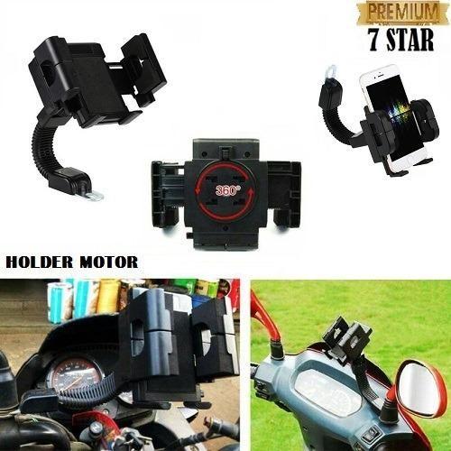 Rp 32.499. Phone Holder Motor Untuk HP / GPS Phone Holder Jepit untuk Spion Motor Matic & Bebek - HitamIDR32499. Rp 32.499