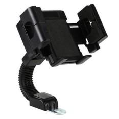 Phone Holder Motor Untuk HP & GPS / Holder Spion Motor Jepit Holder GPS motor - Hitam