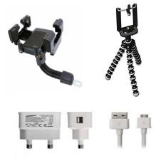 Phone Holder Motor Untuk HP / GPS Free Charger Samsung Galaxy S4 + Tripod Gorilla Mini