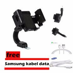 Harga Phone Holder Motor Untuk Hp Gps Hitam Free Samsung Kabel Data Termurah