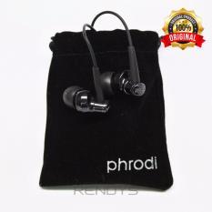 Kualitas Phrodi 007 Earphone Stylish Gratis Pouch 3 5 Mm Black Phrodi
