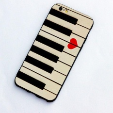 Piano keyboards love valentines music gift idea fashion phone soft case high quality for Apple iPhone 6 plus/ 6s plus - intl