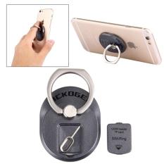 Kualitas Pickogen Universal 360 Derajat Rotasi Cincin Multifungsi Phone Holder Dengan Jarum Untuk Smartphone Hitam Sunsky