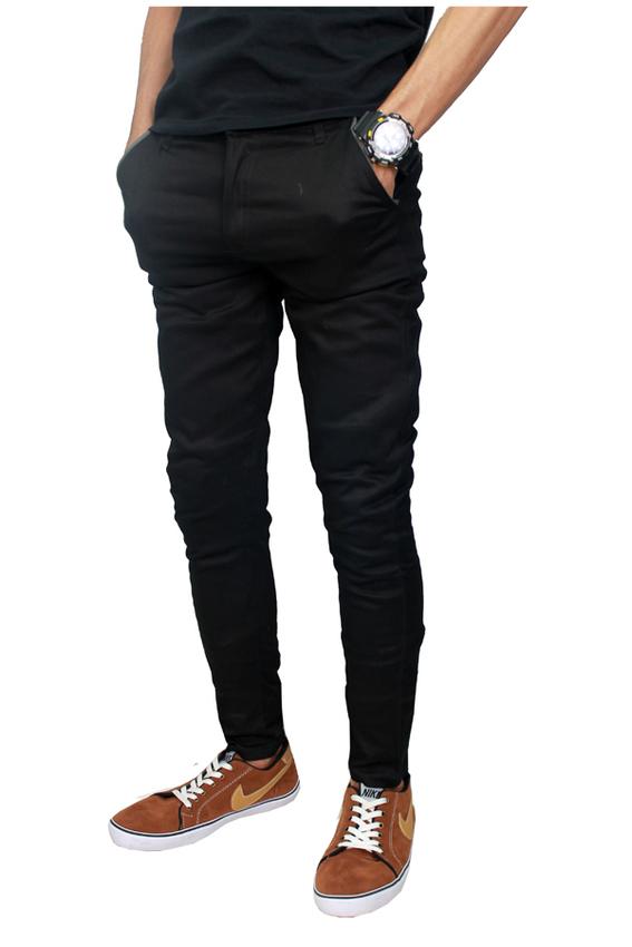 Pieter Jackson Celana Chino Man Skinny Panjang (Hitam)