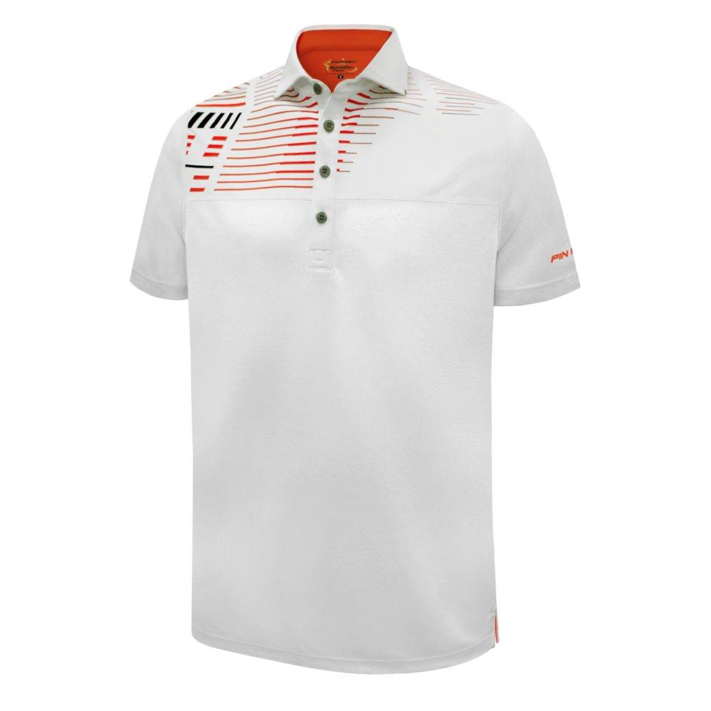PIN HIGH Baju Golf Acton – White CherryOrange