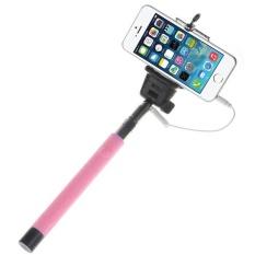 Pink Dapat Diperpanjang Potret Diri Handheld Tripod Monopod untuk IOS Android-Intl