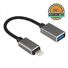 Pimple Lightning Ke USB OTG Cable Premium 8 Pin untuk USB OTG Adapter untuk Semua Lightning Antarmuka Melalui IOS 9.2 Di Atas Sistem (Termasuk IOS 10.3 Sistem dan Di Atas Sistem) (OTG)-Intl
