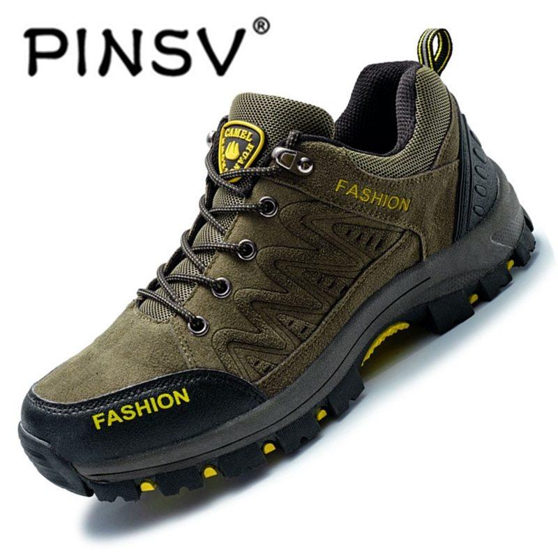 Beli Pinsv Hiking Sepatu Pria Spring Hiking Boots Mountain Pendakian Sepatu Outdoor Sport Shoes Trekking Sneakers Hijau Intl Cicilan