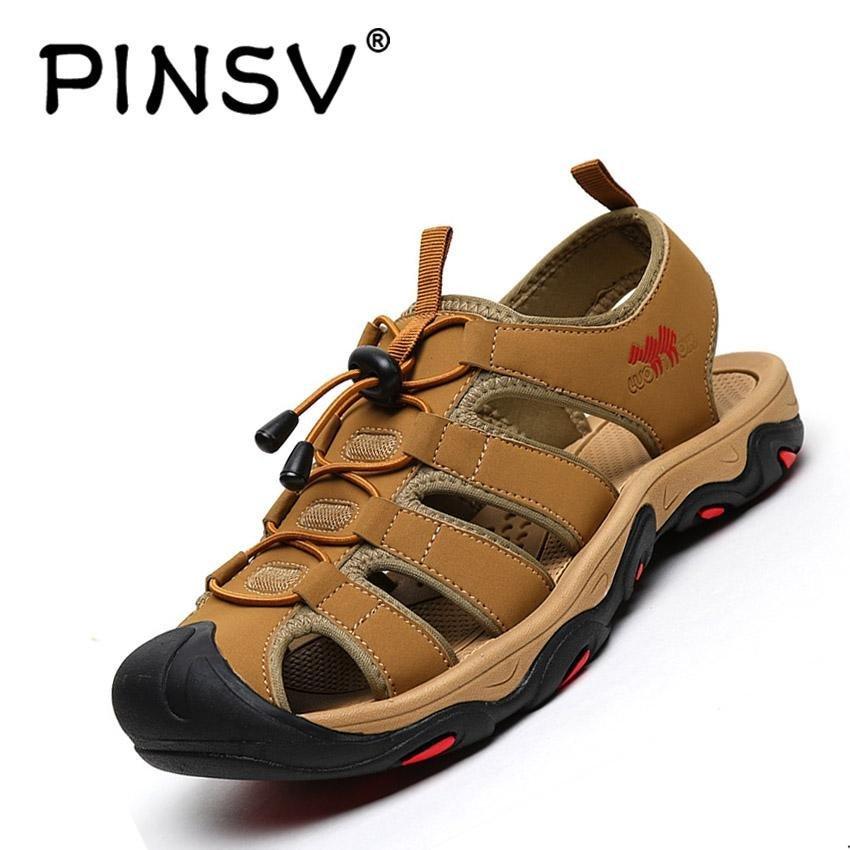 Harga Pinsv Pria Outdoor Sporty Sandal Sandal Sepatu Cokelat Intl Online Tiongkok