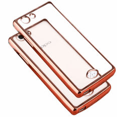 Rp 129.999 PinTo Electroplating Transparent soft Silicone TPU Case case For OPPO A31 with HD Screen Protector -Transparent Rose goldIDR129999