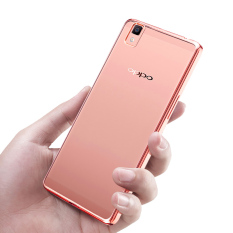 Rp 89.999 PinTo Electroplating Transparent soft Silicone TPU Case case For OPPO R7 with HD Screen Protector -Transparent Rose goldIDR89999