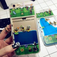 Plants Vs. Zombies IPhone6S/I6plus Kartun Menarik Cairan Selubung Ponsel