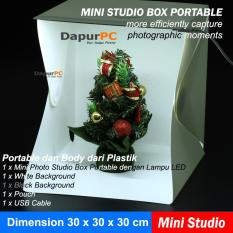 Toko Plastik Portable Mini Photo Studio Box 30 X 30 Cm With Led Medium Dekat Sini