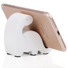 Plinrise Resin Art Craft Cute Mini Dinosaurus Desktop Cell Phone Stand Mount, Candy Color Animal Dino Smart Phone Holder untuk IPhone IPad Samsung Tablet Kindle-Putih-Intl