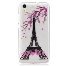 Plum Flower Tower TPU Lembut Kantong Gas Belakang Case Cover untuk Huawei Honor 5A/Y6 II Case-Intl