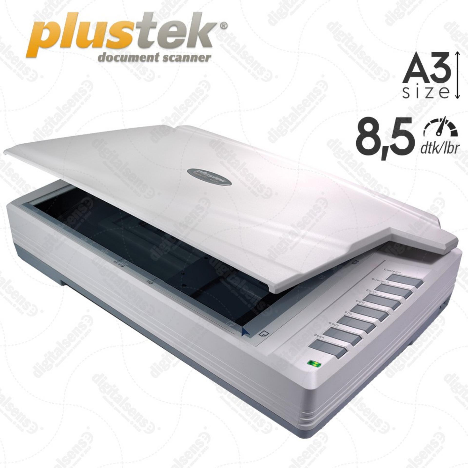 Beli Plustek Scanner Flatbed A320 A3 8 5 Detik Lbr Putih Online Dki Jakarta