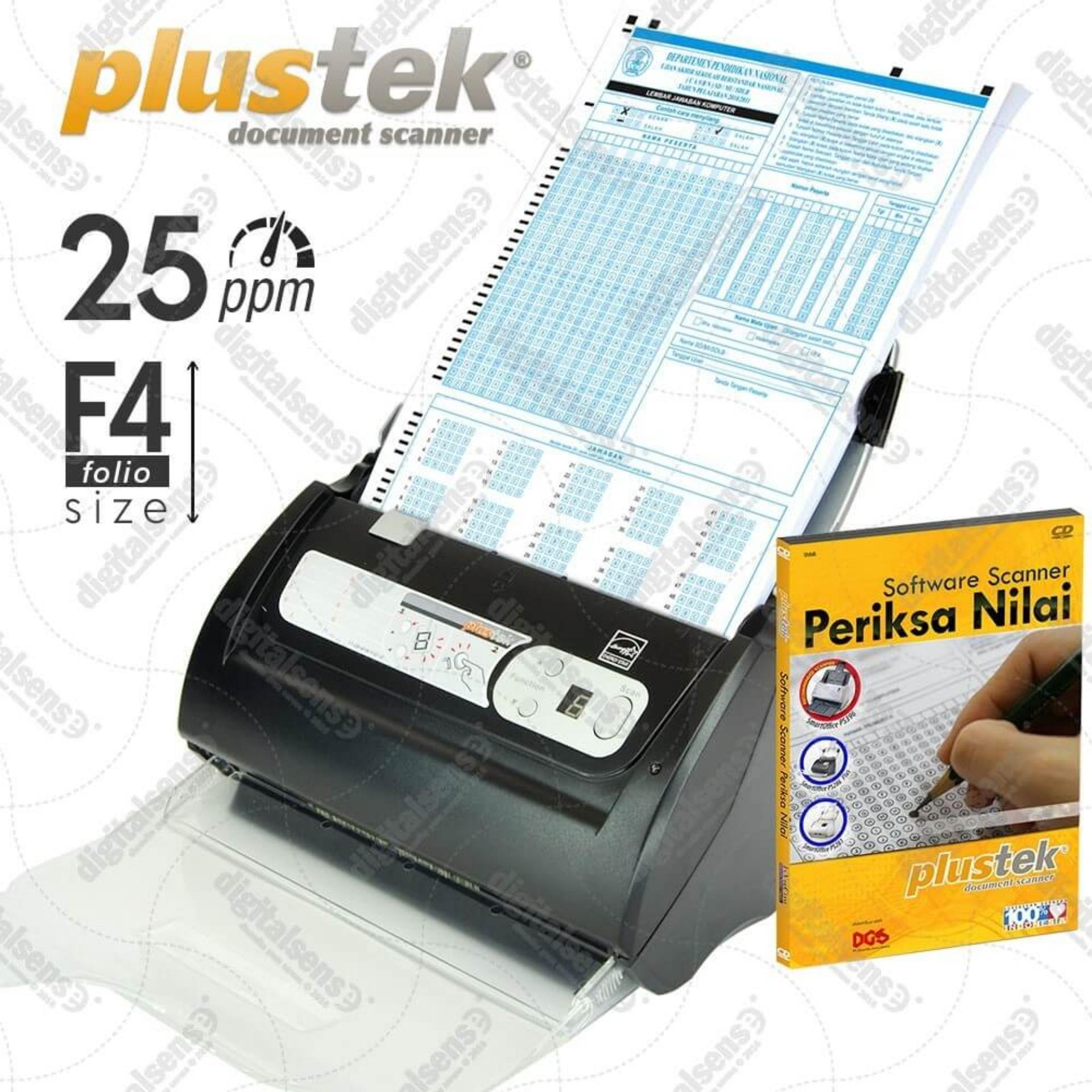 Obral Plustek Scanner Periksa Nilai Ljk 25 Lbr Mnt Ps286 Plus With Software Murah