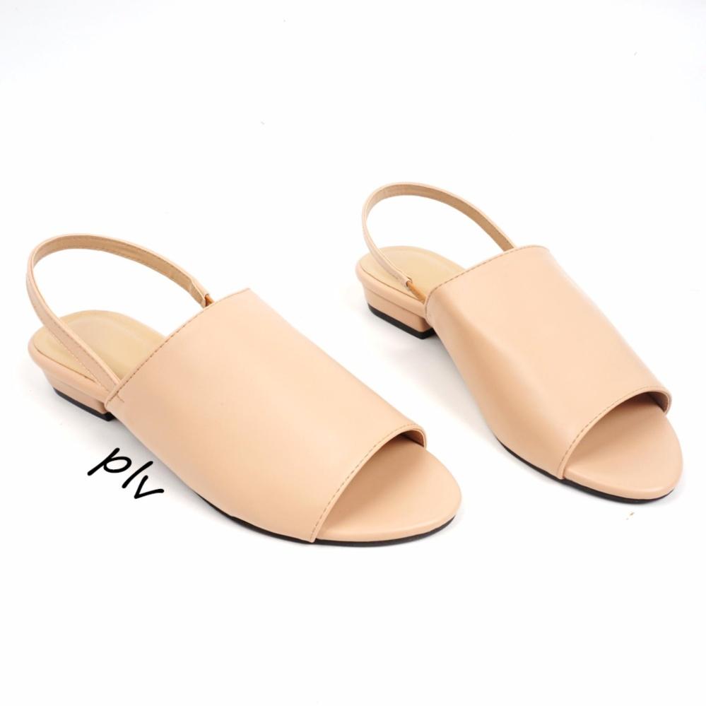 Spesifikasi Pluvia Damira Slingback Heels Sandal Dm01 Cream Paling Bagus