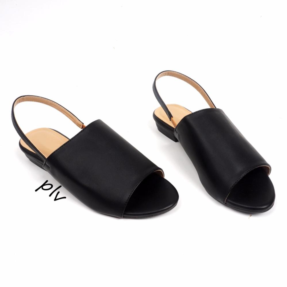 Pluvia - Damira Slingback Heels Sandal DM01 - Hitam