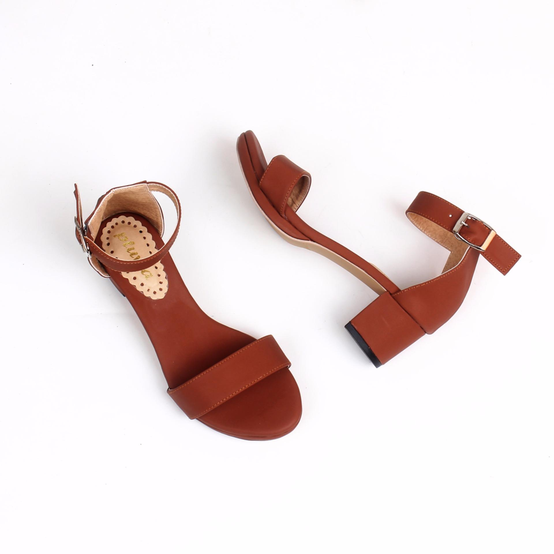 Review Terbaik Pluvia Kalena Heel Sandals Tan