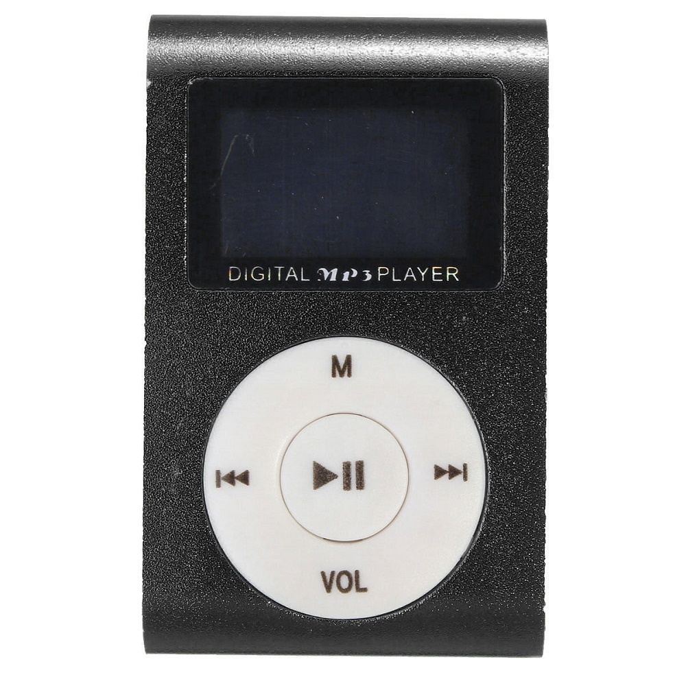 Jual Pod Mp3 Player Tf Card With Small Clip Silver And Lcd Screen Hitam Import