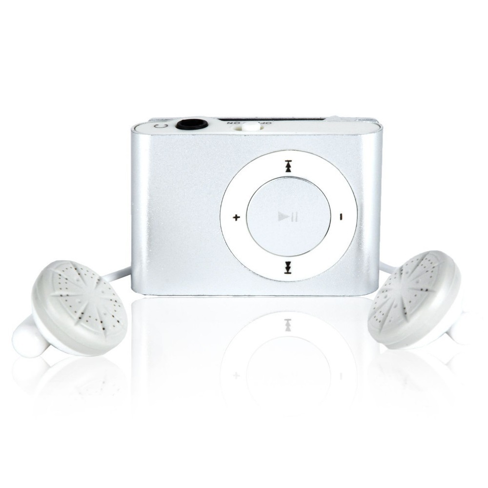 Cara Beli Pod Mp3 Player Tf Card With Small Clip Silver Silver