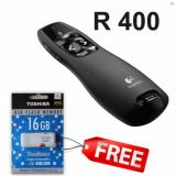 Pointer Logitech Type R400 Hitam Free Flashdisk 16Gb Original