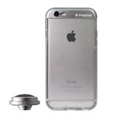 Polaroid Bumper Case Dan Lens Super Fisheye BT238 Untuk Apple iPhone 6 - Grey