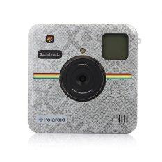 Polaroid Custom Front Plate untuk Polaroid Socialmatic-Snake Skin Silver-Intl