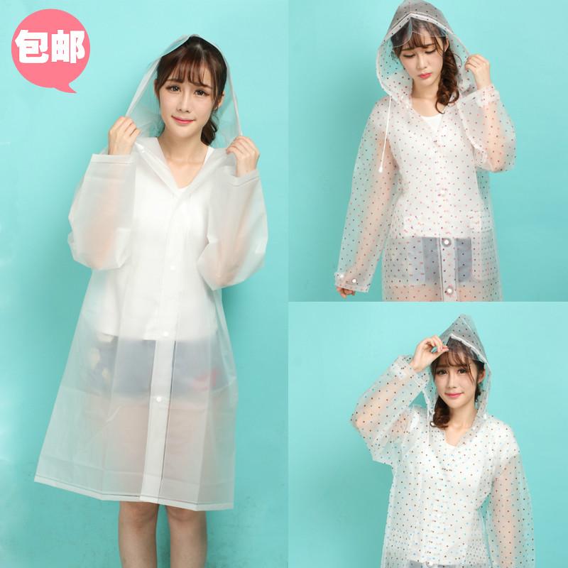 Polkadot Modis Transparan Pria Dan Wanita Dewasa Jas Hujan Jas Hujan (Generasi Putih Atasan Panjang (Tidak Ada Kain Kasa)) baju wanita jaket wanita