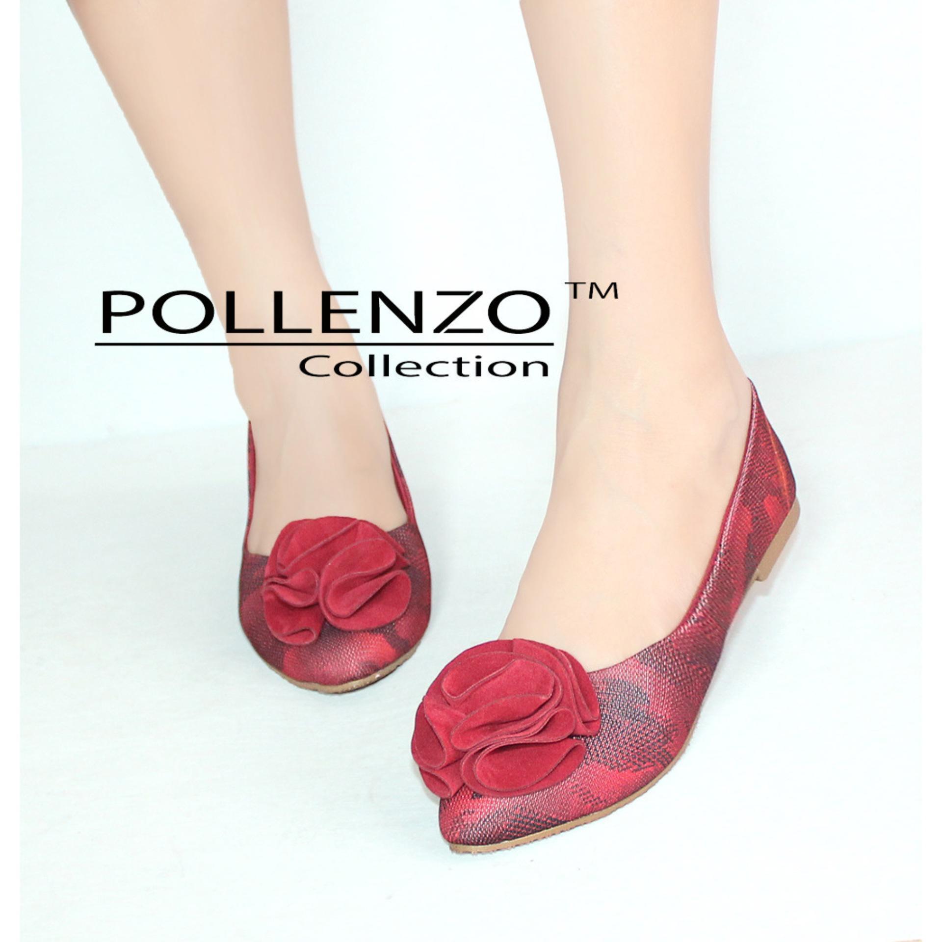 Beli Pollenzo Sepatu Wanita Flat Shoes Blossom Seken