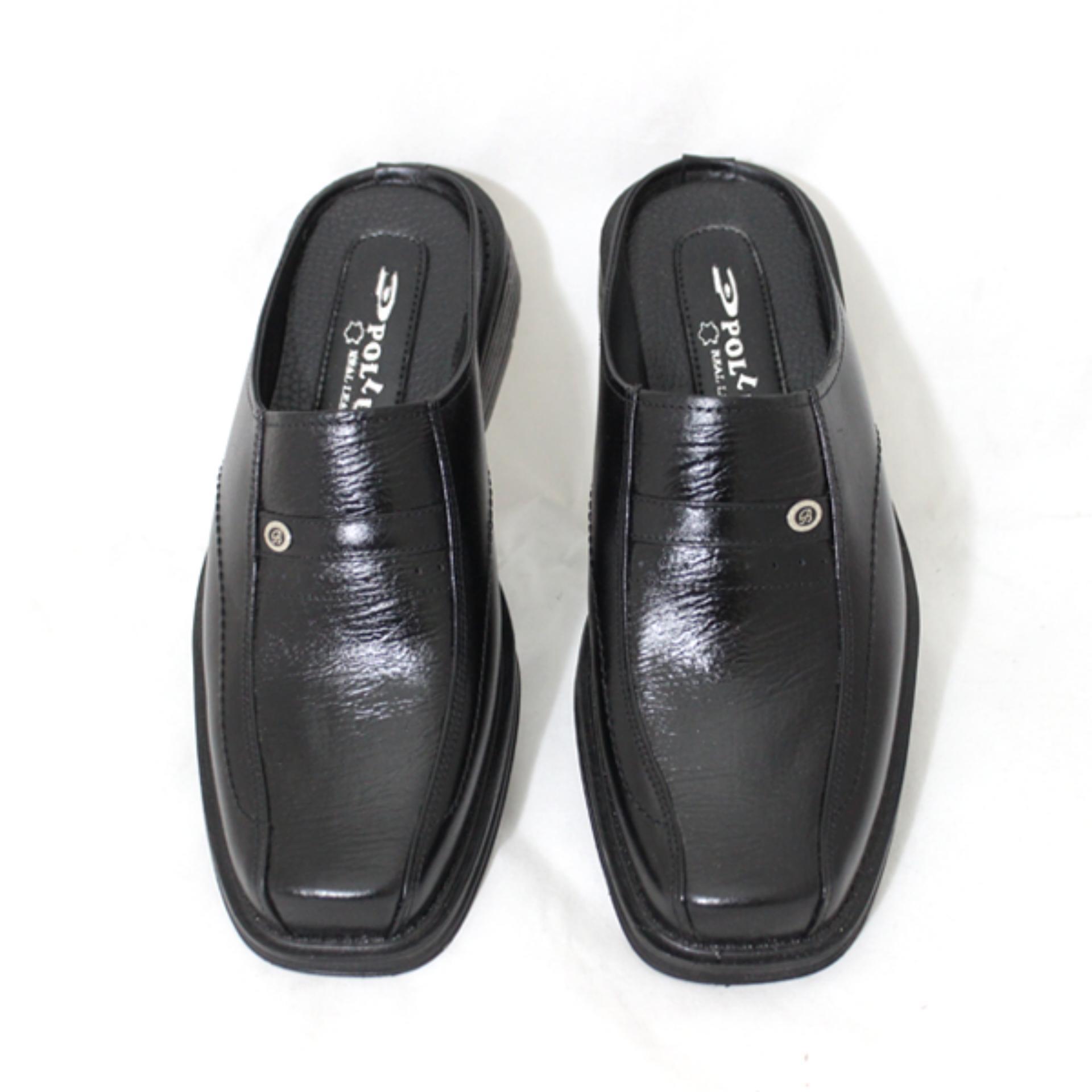 sepatu pantofel sepatu pria sepatu formal pria sepatu merk pollux original – pollux PMSSL520H57hitam