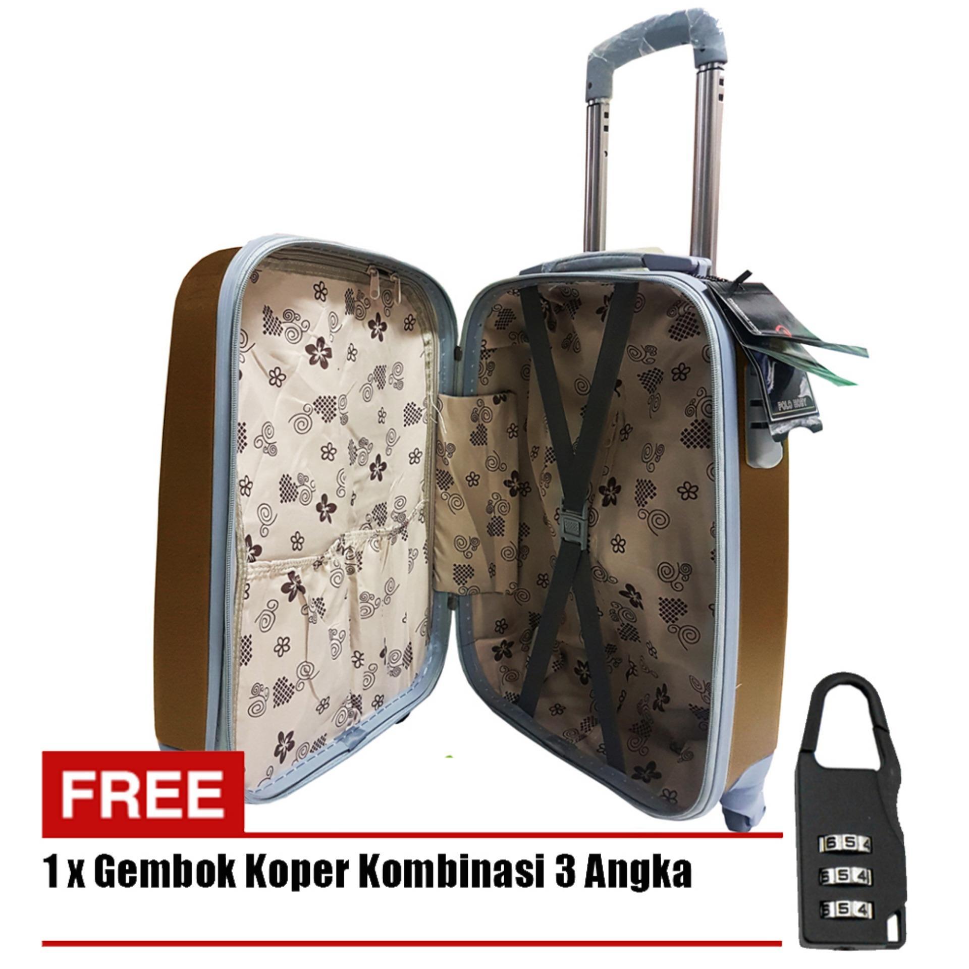 Harga Polo Hoby Koper Hardcase Luggage 20 Inchi 705 20 Anti Theft Coffee Free Padlock Suitcase New