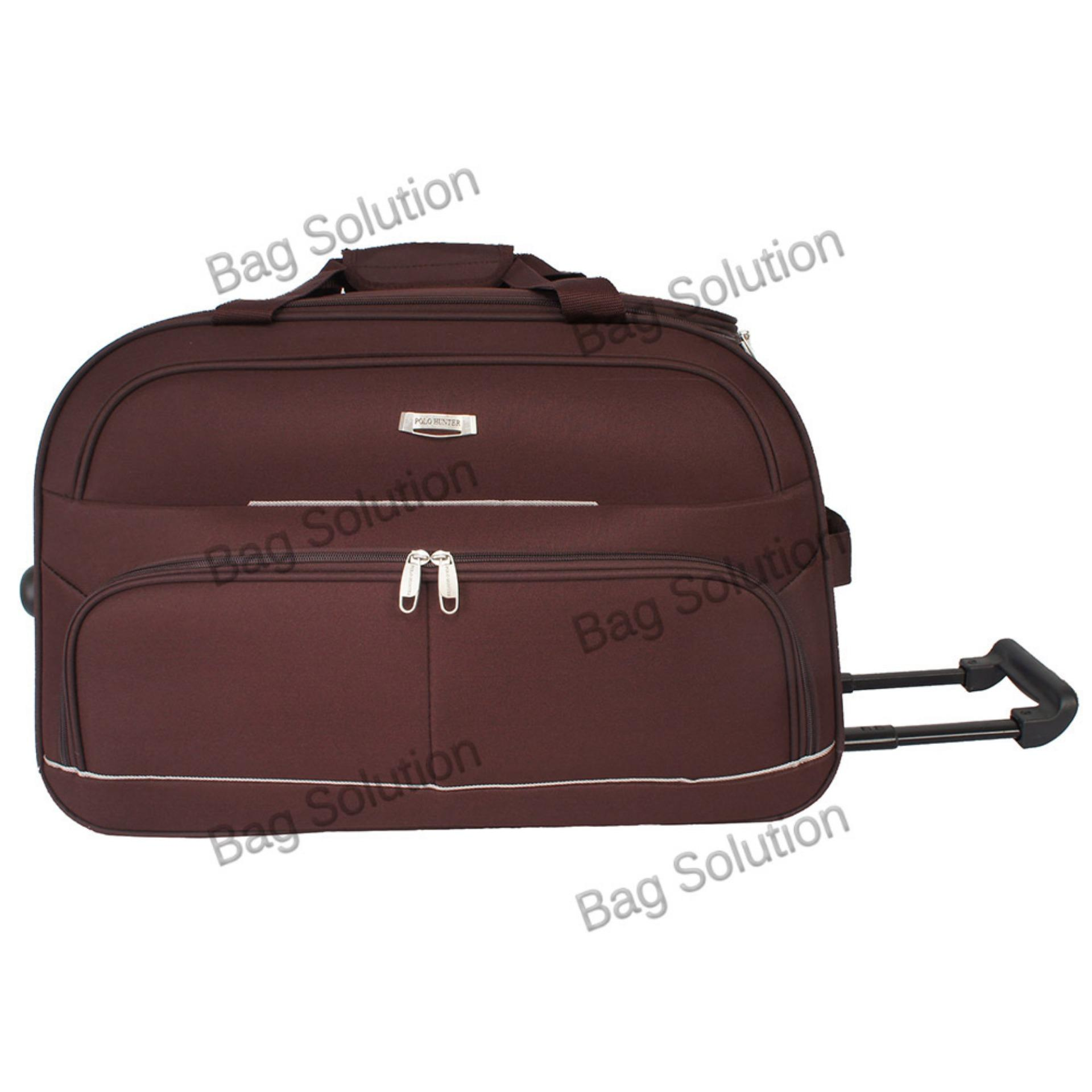 Harga Polo Hunter Tas Kabin Trolley Duffle Bag With Trolley 593 Size 23 Inch Coffee Baru