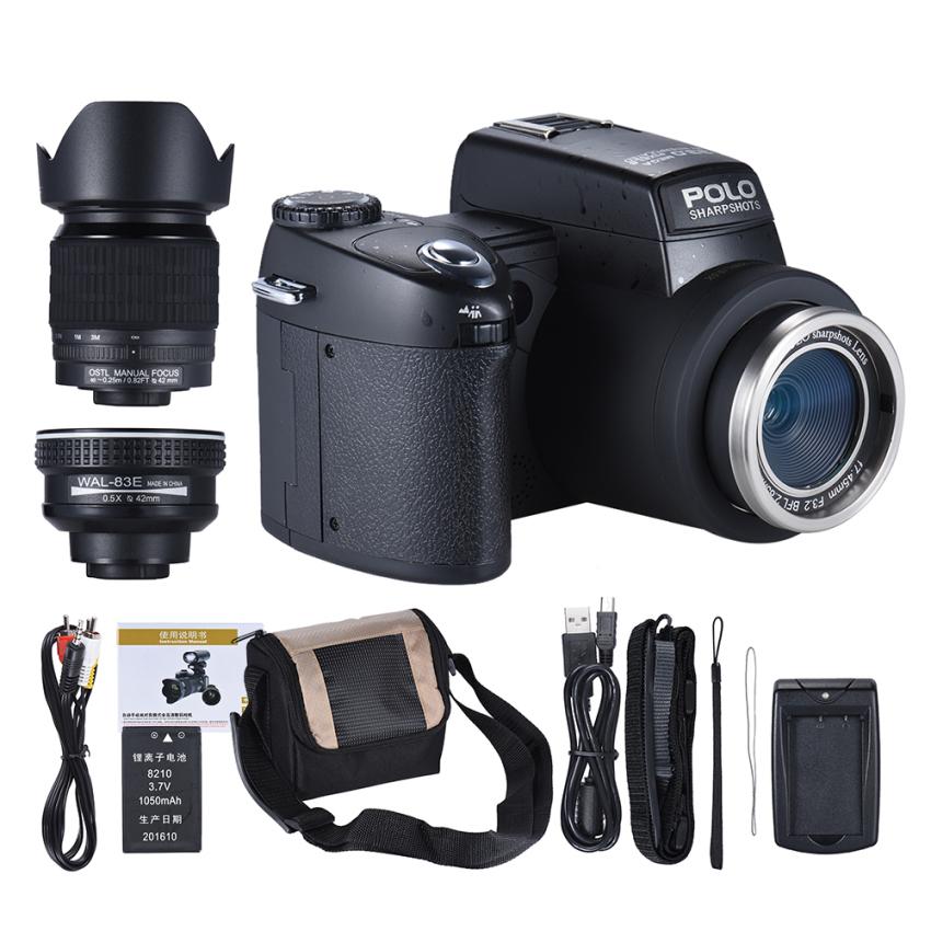 Jual Polo Sharpshots Fokus Otomatis Af 33Mp 1080 P 30Fps Fhd 8X Zoomable Digital Kamera W Standar 5X Lebar Angle 24X Telephoto Lama Lensa 3 Lcd Bulit In Senter Intl Grosir