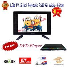 Polysonic LED TV 19 Inch PS 1892 Wide Free DVD Asatron Promo -Khusus pengiriman Jabodetabek