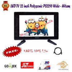 Polysonic LED TV 22 Inch PS 2295 Wide Free Kabel HDMI Promo-Khusus pengiriman Jabodetabek