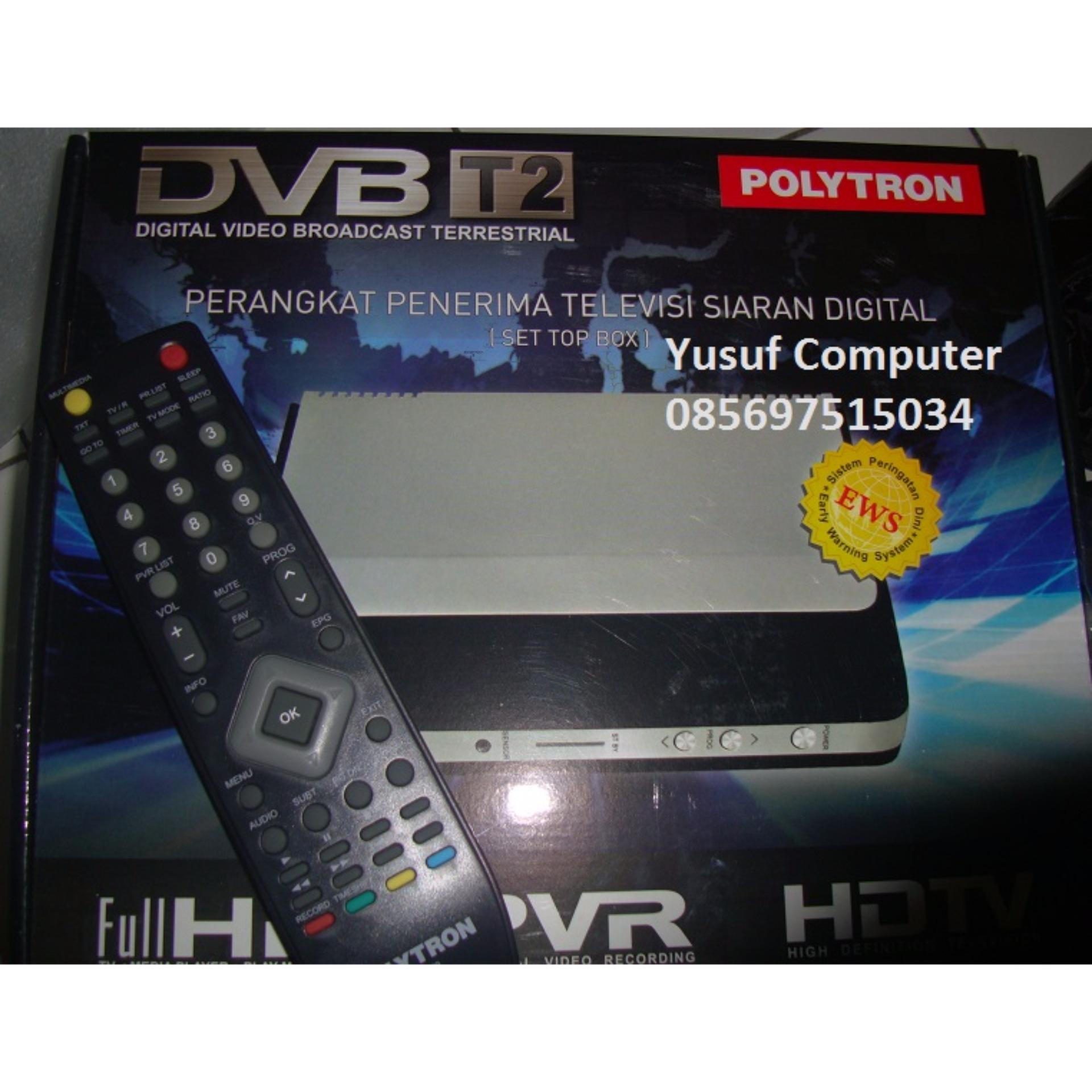 Polytron PDV500T2 Set Top Box DVB T2 TV Digital dan Media Player Hitam