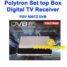Diskon Polytron Pdv 500T2 Pdv500T2 Set Top Box Dvb T2 Tv Digital Hitam Polytron