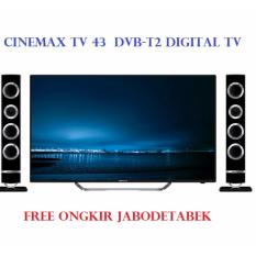 POLYTRON PLD 43TS865 +Speaker  LED CINEMAX TV 43 ( DVB-T2 DIGITAL TV )Khusus Jabodetabek