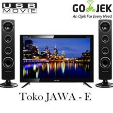 POLYTRON PLD24T8511 LED TV Layar 24 Inch + Speaker Suara MANTAP JIWA