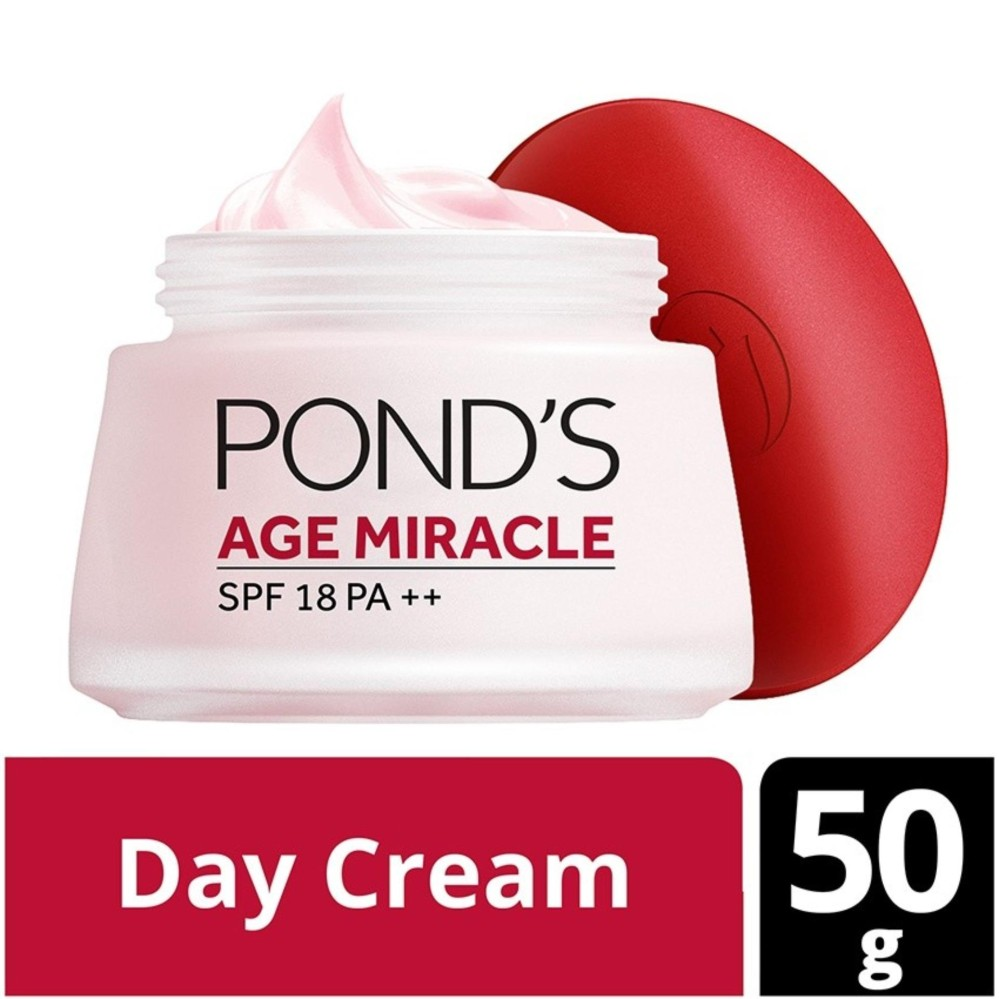 Pond's Age Miracle Day Cream Wrinkle Corrector SPF 18 - 50gr - Ponds Cream Pencerah dan Anti Aging