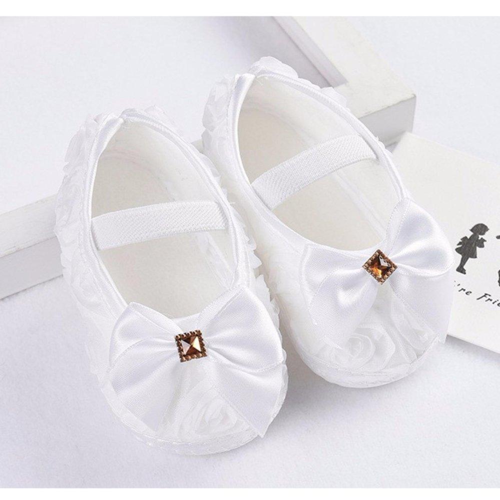 Popila Sepatu Bayi Impor Anti-Slip Satin Pita