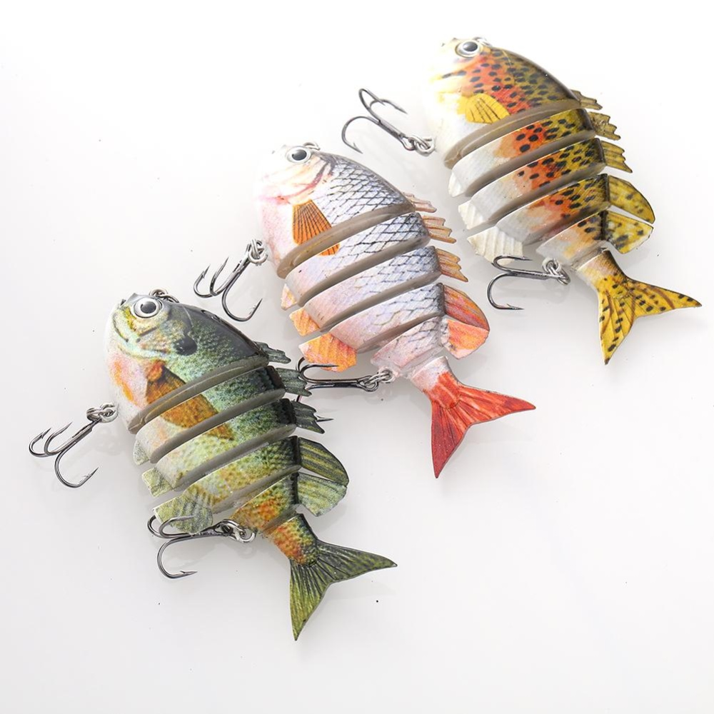 Popular Multi Jointed Fishing Lures ABS Hook Tackle Outdoor Equipment Trendy - intl