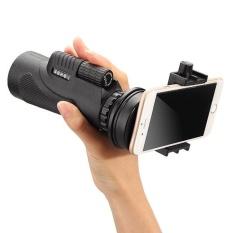 Portable 12x50 BaK4 Prism Multi Dilapisi Lensa Bisa Disesuaikan Monoculars Telescope dengan Universal Holder dan Tripod Warna: Hitam-Intl