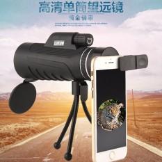 Portabel 40X60 HD Bermata Satu Malam Vision Teleskop Telephoto Lensa Optik Prisma Seluler Telepon Kamera Lensa + Tripod Universal + Klip untuk Ponsel Pintar-Internasional