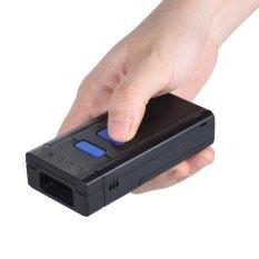 Scanner Pembaca Barcode Ring Finger 1D Portabel, mudah digenggam, Bluetooth nirkabel cocok untuk sistem windows XP 7.0 8.0 10 untuk IOS Android OS untuk Supermarket, Perpustakaan, Perusahaan Kilat, gudang warna hitam - intl