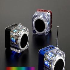 Jual Portable Digital Led Light Stereo Mini Fm Radio Mp3 Music Player Sd Tf Card Intl Oem Grosir