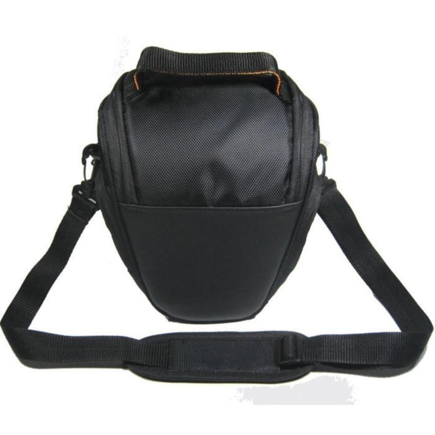 Portable DSLR Kamera Digital Segitiga Bahu Carry Bag Handbagcase untuk Canon EOS 40D 450D 60D 500D 550D Series (HITAM) -Intl